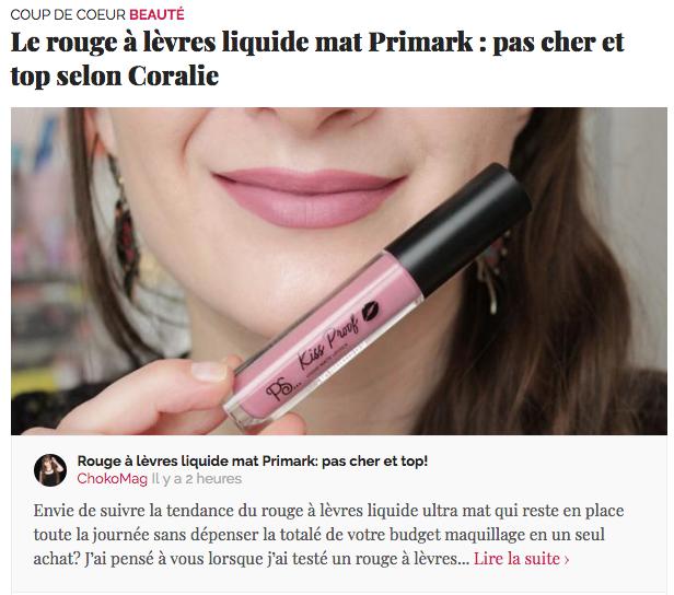 selection beauté blog beauté chokomag
