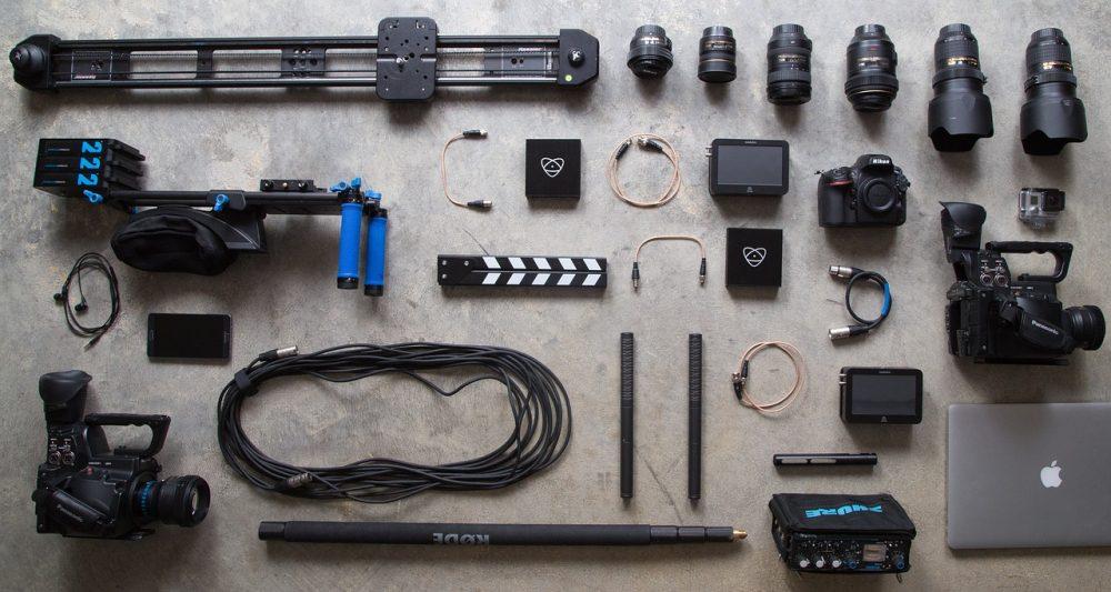 Un exemple de bel équipement photo et vidéo