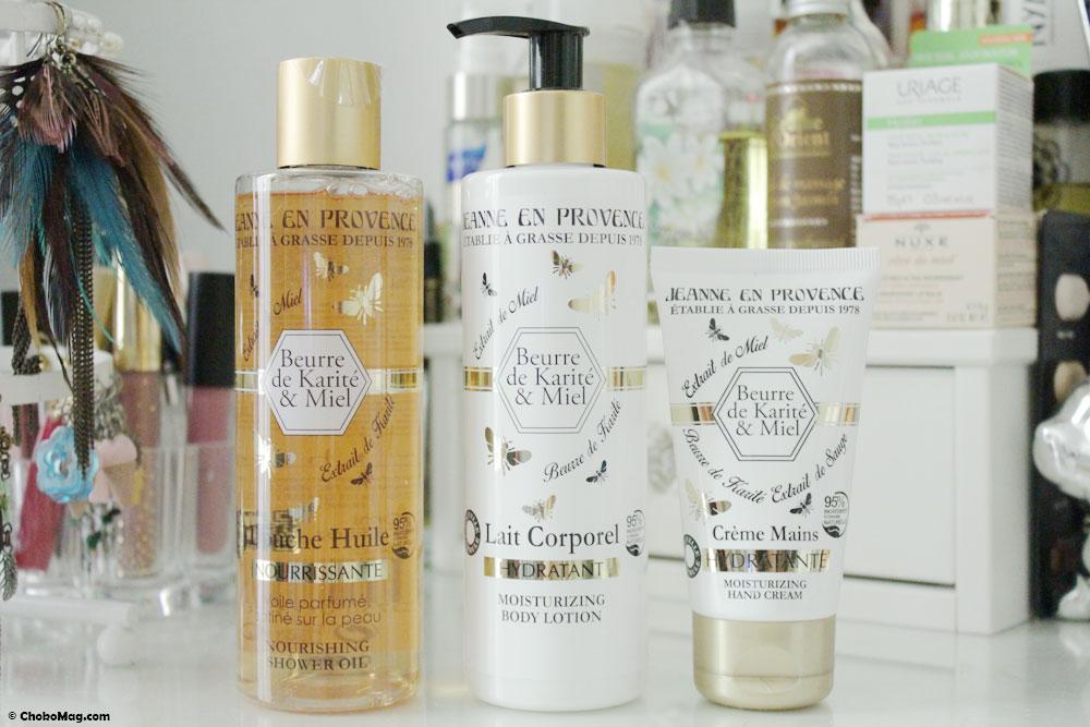 Soins hydratants karité et miel Jeanne en Provence