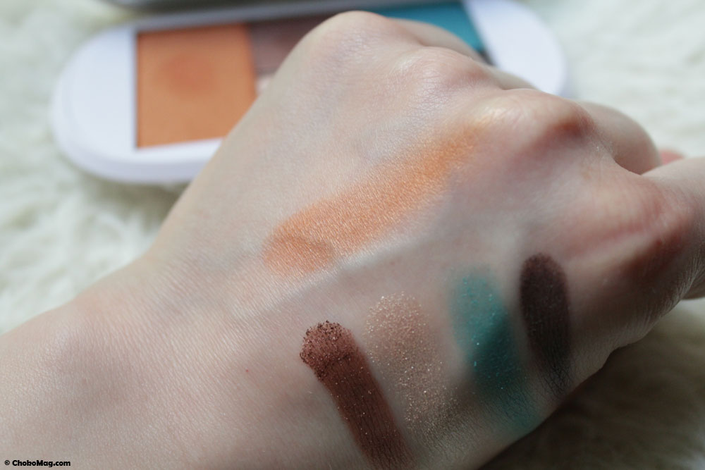 Swatch du blush zeste de cuivre Irisé Paris