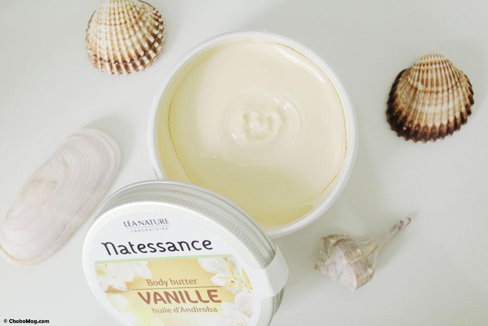 Body butter à la vanille bio Natessance