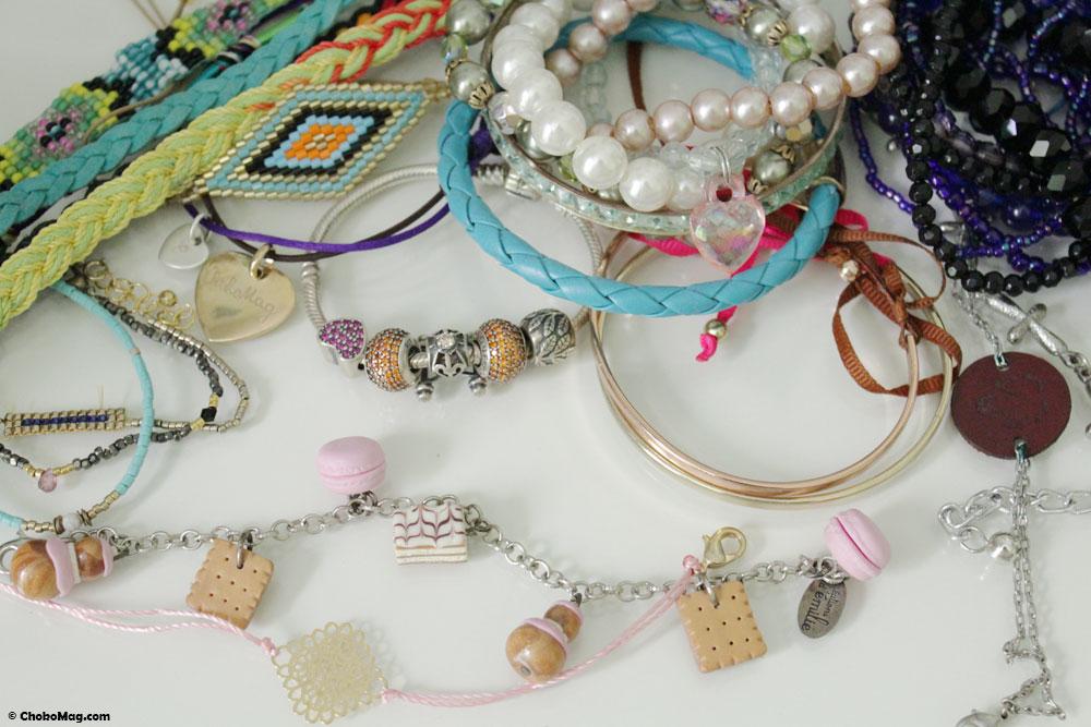 Collection de bracelets