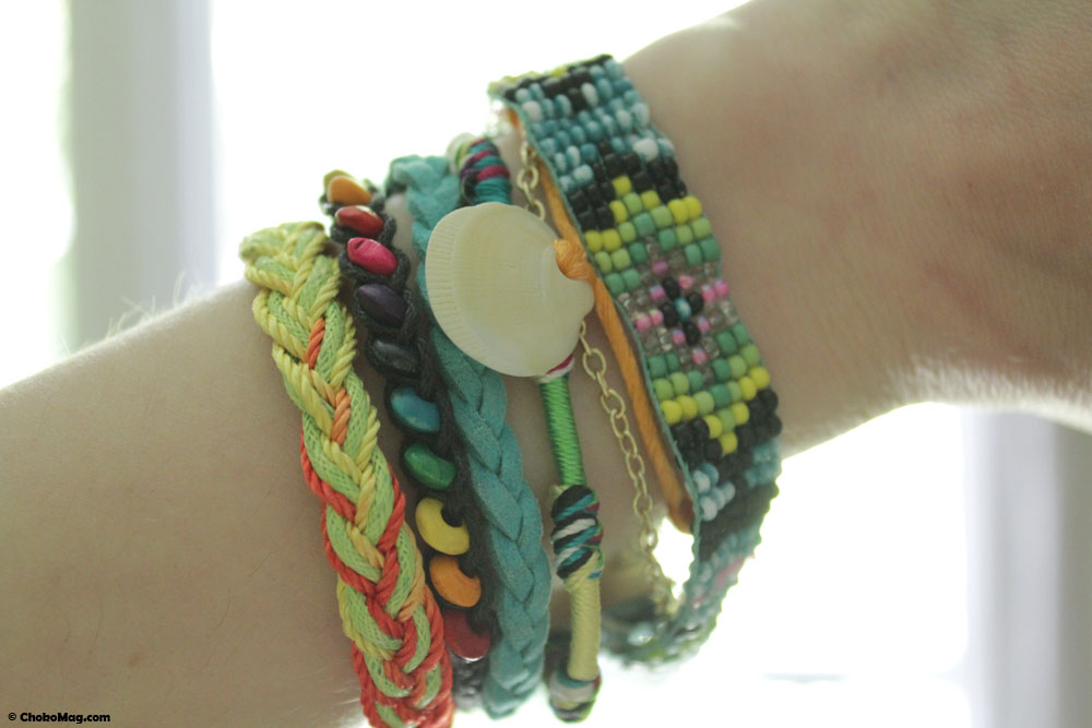Bracelet manchette façon hipanema